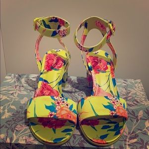 Aldo Neon Floral Heels